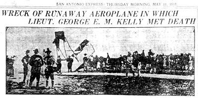 newspaper headline Wreck of Lt George Kelly met death
